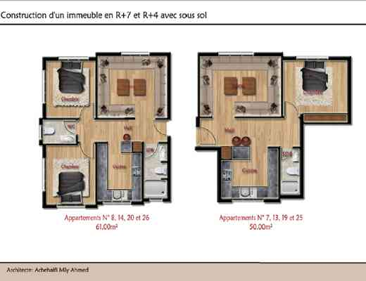 appartement de standing au cœur d'agadir de 40m²